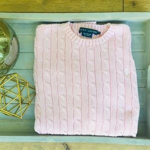 Ralph Lauren Cable-Knit Crew Neck Sweater